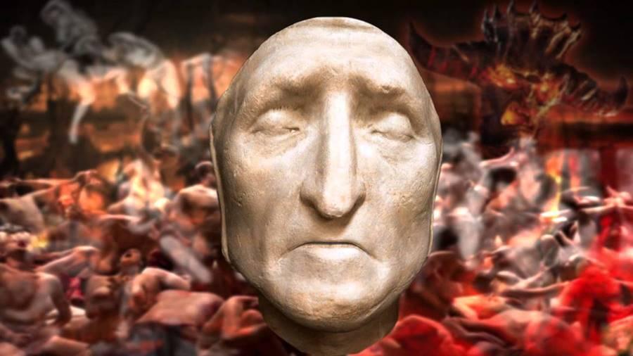 A máscara mortuária de Dante Alighieri, Inferno
