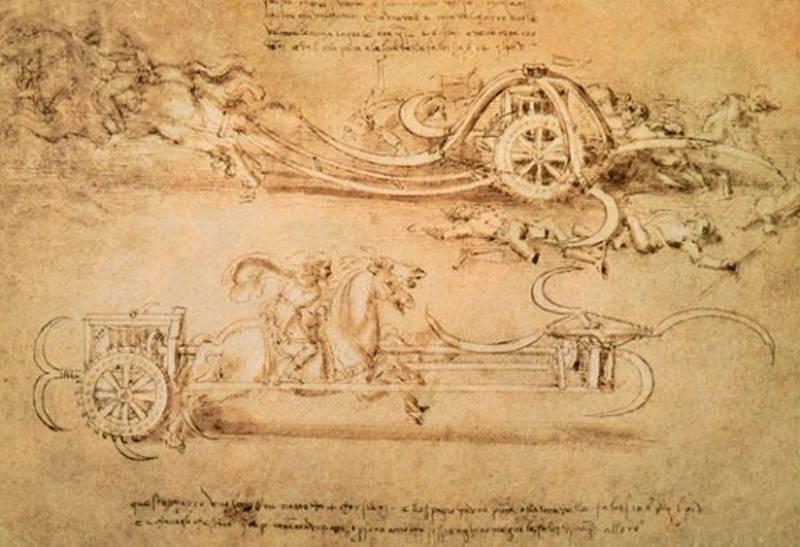 Carro-ceifador - Máquinas de Guerra de Da Vinci