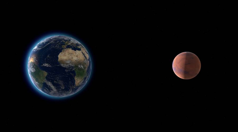 A distância entre a Terra e Marte, um dos principais problemas para a viagem para Marte