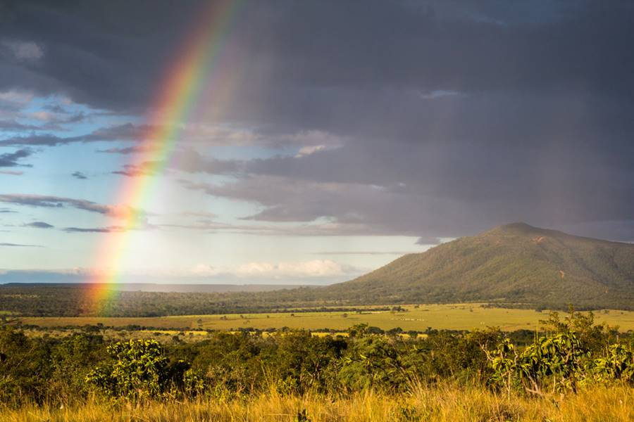 Fenômeno de como é formado o arco-íris