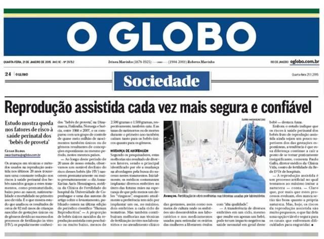 Um dos maiores jornais impressos, O Globo