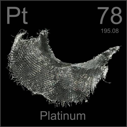 Platina, um dos metais mais valiosos do mundo