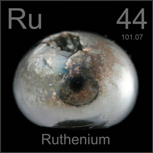 Rutênio, um dos metais mais valiosos do mundo