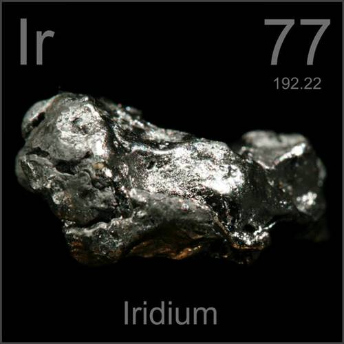 Irídio, um dos metais mais valiosos do mundo