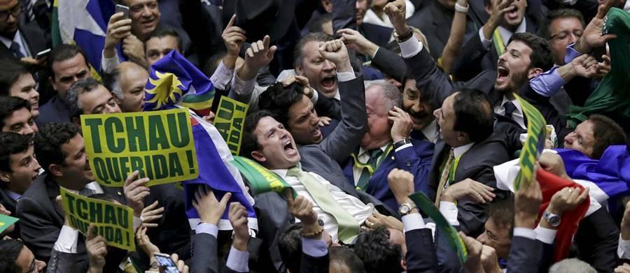 Uma da votações do afastamento de Dilma Rousseff
