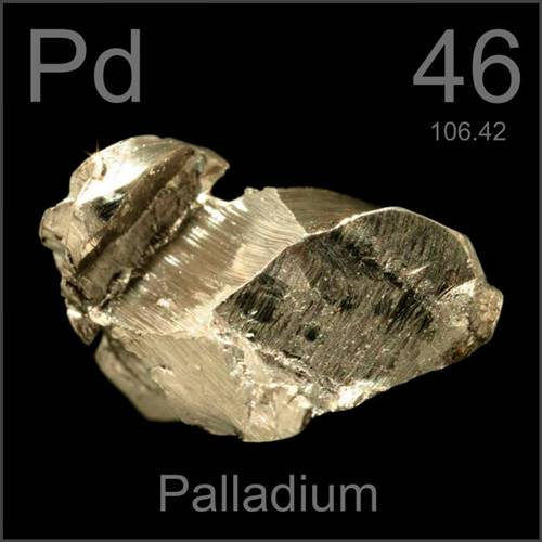Paládio, um dos metais mais valiosos do mundo